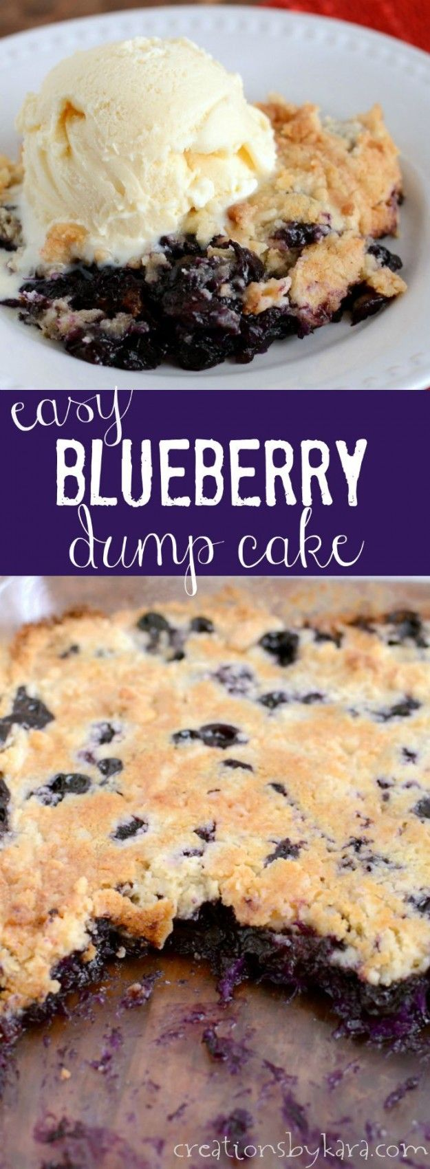Easiest Blueberry Cobbler ever! This cobbler starts with fresh blueberries, and it is so yummy!