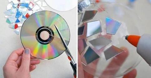 con cds viejos se hacen maravillas.