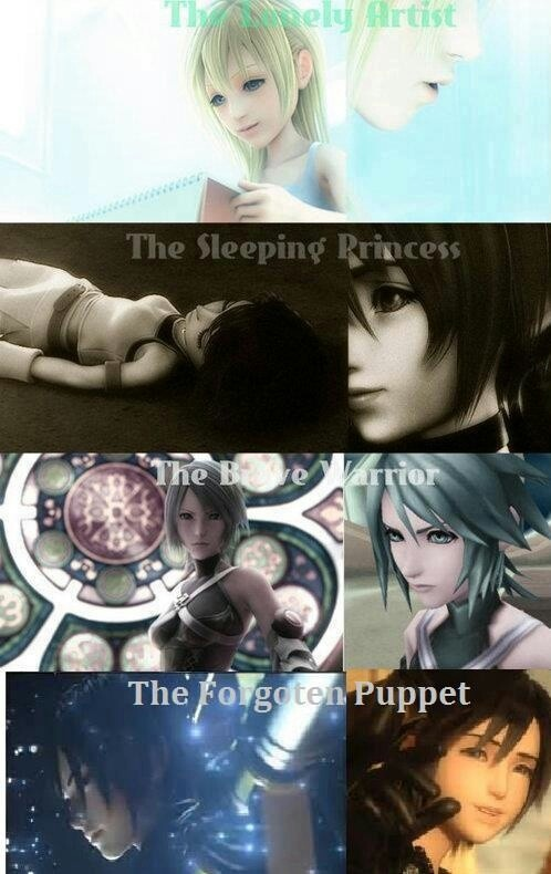 I think for all the grief people give the different girls of the Kingdom Hearts series, you have to admit they went through a lot on their own.
