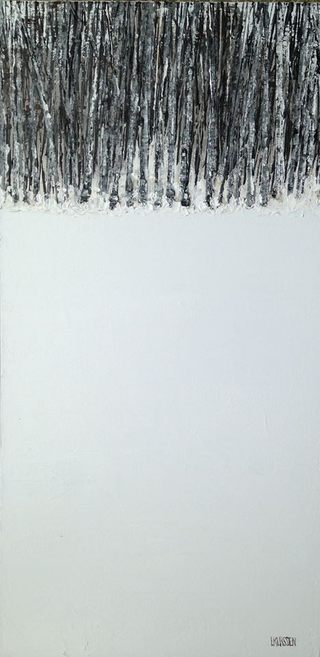 Stillness, Acrylic on canvas, 24 x 12 inches