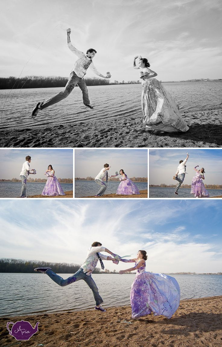love love love trash the dress!  with paint!