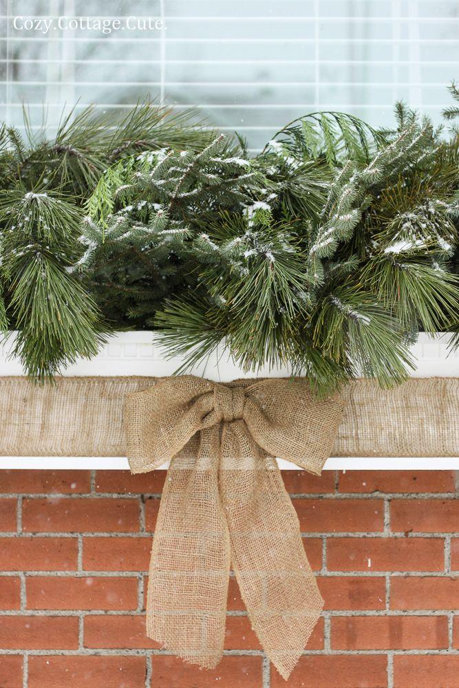Cozy.Cottage.Cute.: My Winter Window Box - A Simple Tutorial