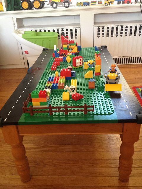 Lego Table Project for my three-year-old