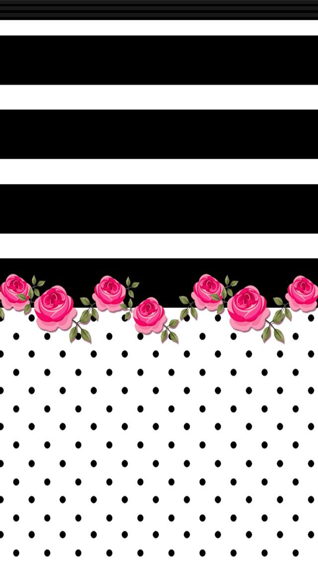 Iphone wall black white horizontal stripe with bright for Bright pink wallpaper uk