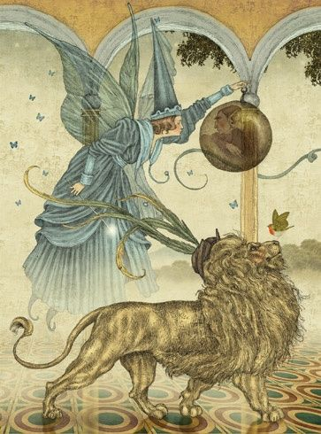 The Green Fairy Book by Andrew Lang. This edition illustrated by Julian de Narvaez