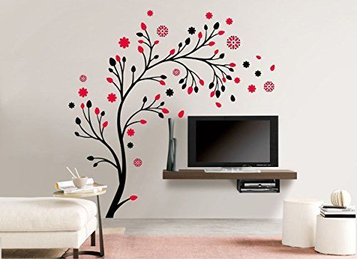 Buy Magical Tree Multicolor Wall Decal Online at Lowest Prices in India | SRG India  #wallart #walldecal #wallsticker #homedecor #tree #Art #magicaltree