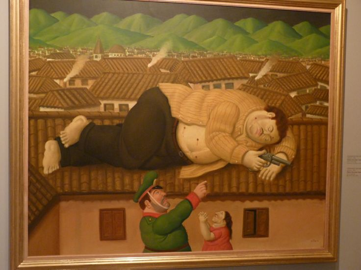 The Death of Pablo Escobar, by Colombian artist Botero. Museo de Antioquia, Medellín.