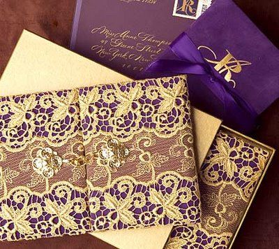 Purple And Gold Wedding Invitations / We Finally Decided To Go With A Purple  And Gold