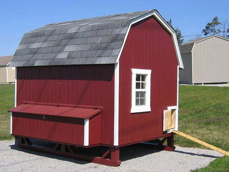 17 best images about chicken coop on pinterest eggs for Gambrel garage kit