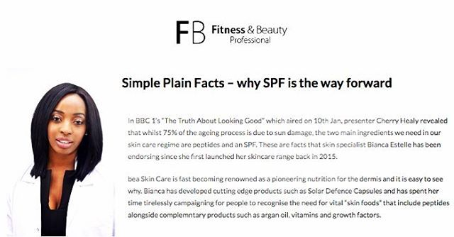 If you caught @bbcone's 'The Truth About Looking Good' last week then you know SPF is the way forward! Yep, even in chilly January.  Find out more about the importance of daily sun protection to prevent skin damage with our Advanced System Range over on @fitnessnbeautypro's site…