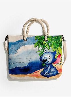 Aloha new beach bag!   Loungefly Lilo & Stitch Rope Canvas Tote