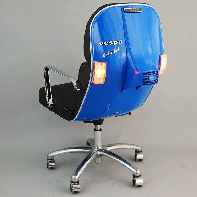 funny office chairs. vespa chair - scooter vespa\u0027s, which do not function any more get a really new life as smart office swivel chair! original frames are padded and funny chairs