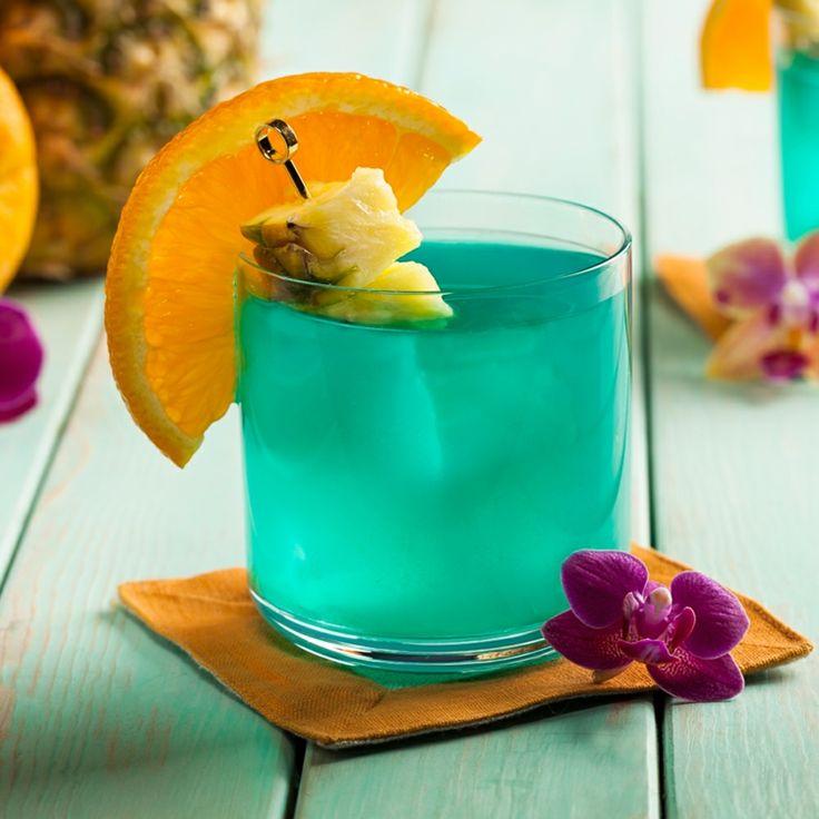 ananas-orchidee-blau-grün-dekoration