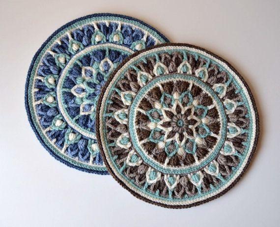 Crochet Mandala Potholder Pattern overlay by LillaBjornCrochet