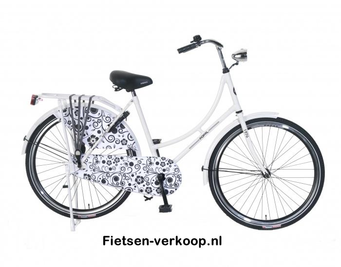 Omafiets Wit Barok 26 Inch | bestel gemakkelijk online op Fietsen-verkoop.nl