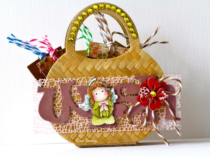 Mini bag with bamboo n Swarovski