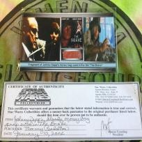"""Johnny Depp's moneybag fragment used in the film """"The Brave"""". With COA"""