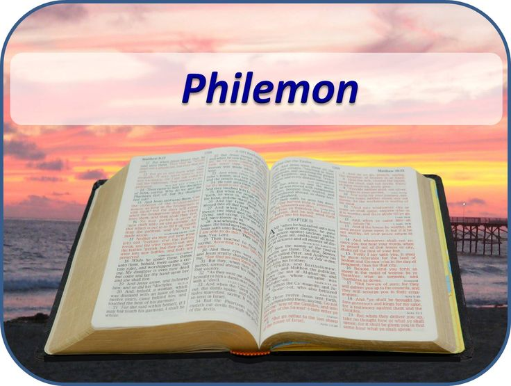 the letter of apostle paul to philemon Paul, philemon, and onesimus there then, glance a little at this inspired letter to philemon, written under the circumstances which we in the spirit, the fruit of the spontaneity of love, which could not suffer any external compulsion, even from the apostle paul, therefore, sent.