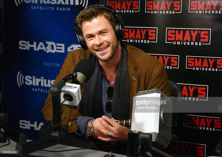Actor Chris Hemsworth visits 'Sway in the Morning' hosted by SiriusXM's Sway Calloway on Eminem's Shade 45 channel at the SiriusXM studios on January 16, 2018 in New York City.