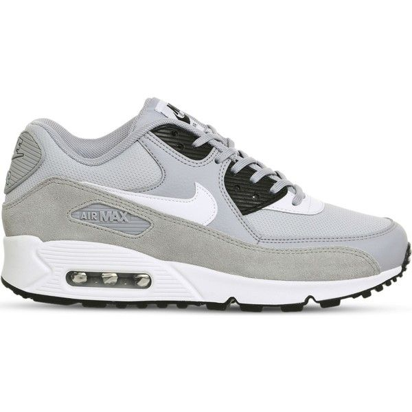 Nike Air Max 90 suede and mesh trainers ($105) ❤ liked on Polyvore featuring men's fashion, men's shoes, men's sneakers, mens mesh shoes, mens suede shoes, mens leopard print shoes, mens suede sneakers and nike mens sneakers