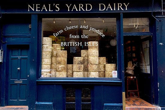 Neils Yard Dairy, Borough Market, London. Stinking Bishop cheese, please