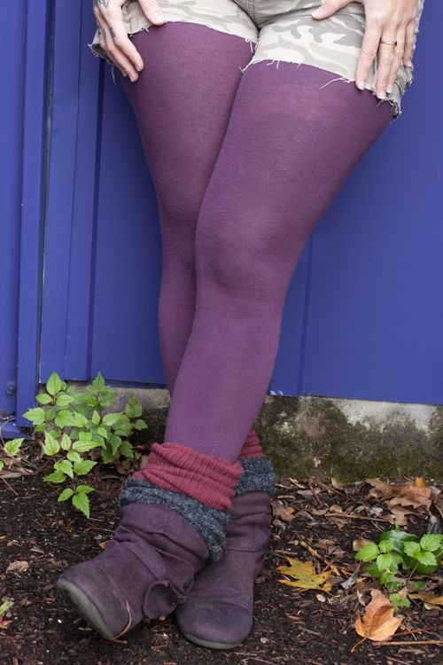 Solid Cotton Tights
