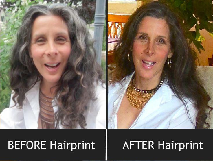 Before After Hairprint Hair Pinterest Gray Hair