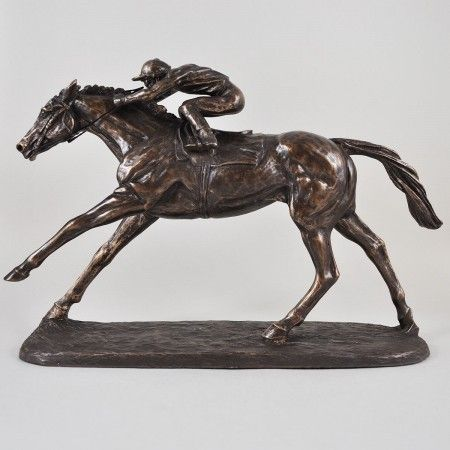 On the Flat Cold Cast Bronze Sculpture - £99.99