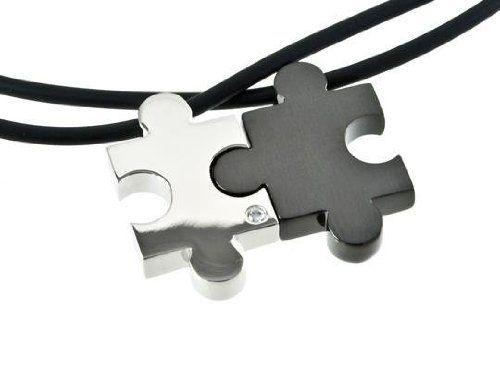 M+Y STEEL Love Puzzle Couples PendantGift Ideas, Puzzles Couples, M I Steel, Jewelry, Puzzle Pieces, Puzzles Piece, Couples Gift, Couples Pendants, Puzzles Necklace