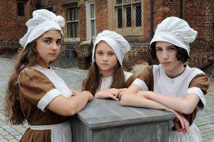 HettyFeather_ (L-R) Sheila (POLLY ALLEN), Elizabeth (ISABELLE ALLEN), Monica (IZZY LEE)