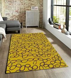 Sofiabrands Geometrical Dark Yellow Hand Tufted Rugs