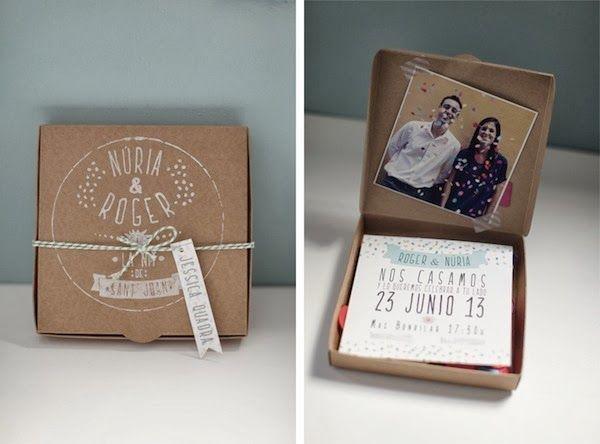 Invitaciones de boda en papel kraft. Fotografia: Jessica Quadra