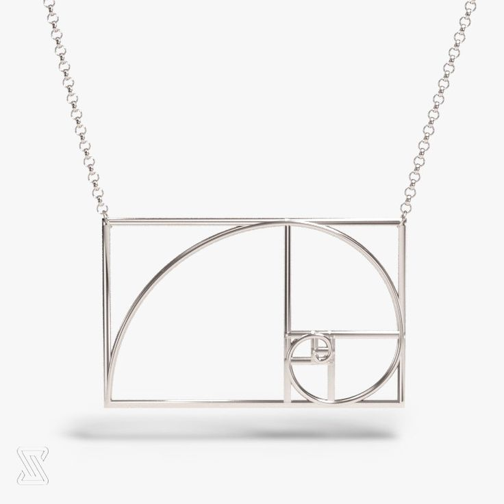 science jewelry: Fibonacci necklace - silver golden ratio necklace - wearable mathematics - Phi - irrational jewelry - Fibonacci sequence by somersault1824 on Etsy https://www.etsy.com/listing/232904023/science-jewelry-fibonacci-necklace