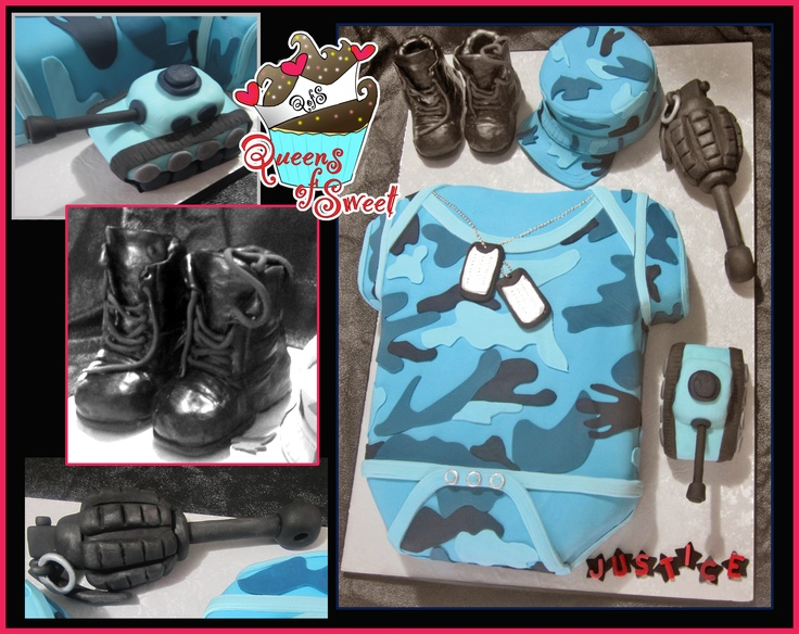 Military Baby Shower Cake LOL!!!! how cute!