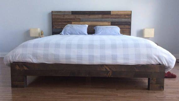 Base de lit en gros bois d\'oeuvre | Idées maison | Pinterest | Lofts ...