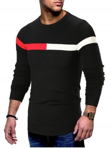 Panel Long Sleeve Pullover Sweater Mens Outfits In 2018 Sweaters