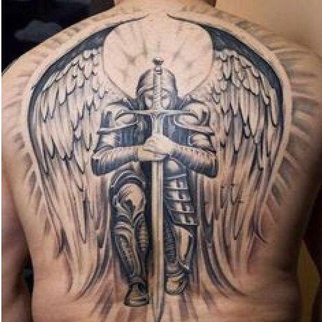 1000 ideas about archangel tattoo on pinterest saint michael tattoo archangel michael tattoo. Black Bedroom Furniture Sets. Home Design Ideas