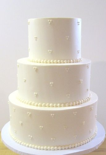 'Simple' Wedding Cake by www.realcakecompany.com