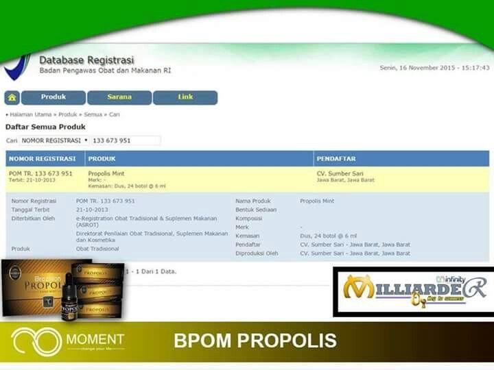 BPOM PROPOLIS MOMENT