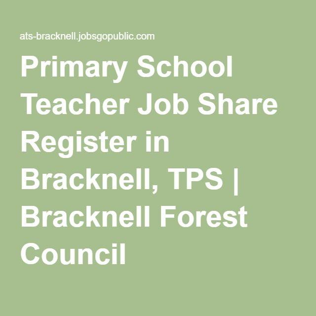 Primary School Teacher Job Share Register in Bracknell, TPS   Bracknell Forest Council