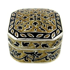 Enamel Jewelry Box in Sterling Silver from India (Jewelry)  http://documentaries.me.uk/other.php?p=B0078LTEFG  B0078LTEFG