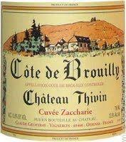 Chateau Thivin Cote de Brouilly Cuvee Zaccharie, Beaujolais, France label
