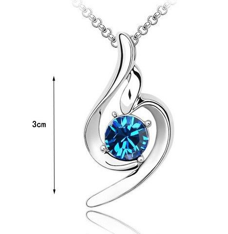 CN86 lucky angel Pendant  Popular Austrian Rhinestone Crystal Necklacefor women-in Pendant Necklaces from Jewelry on Aliexpress.com