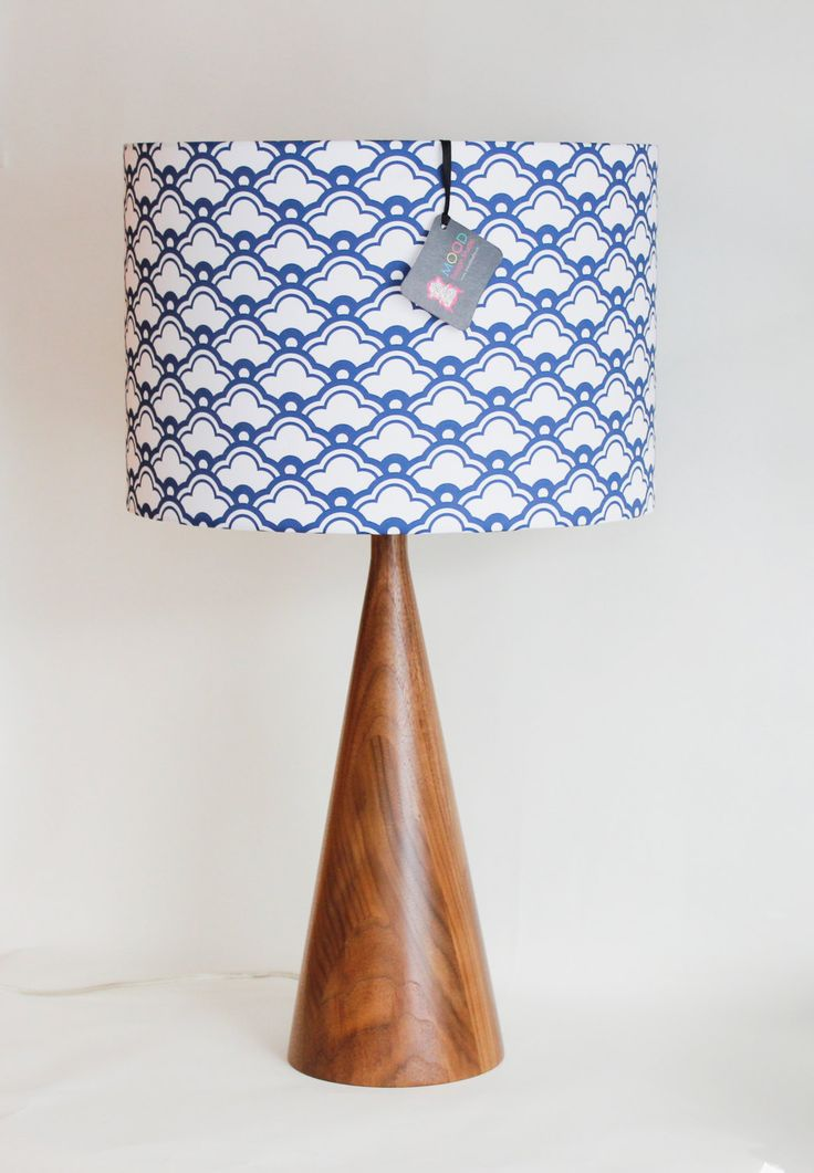Lamp Shade 14 Quot Drum Monaco Blue And White Clouds