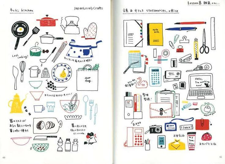 Color Pen Easy Illustration - Japanese Craft Book for Drawing - eto - Kawaii Motifs - B1067. $23.50, via Etsy.