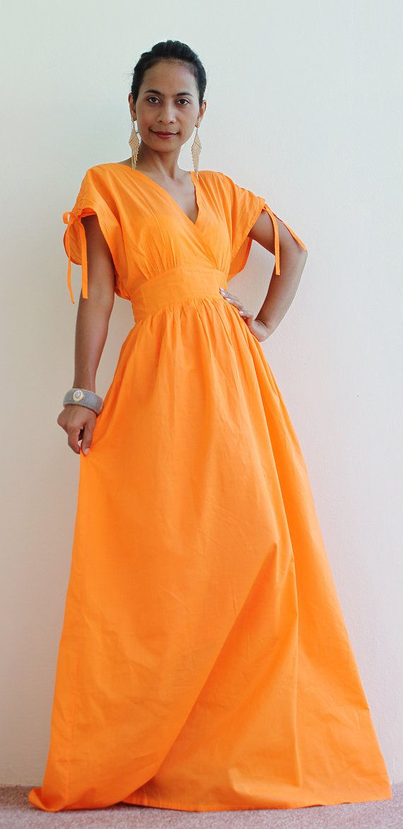Summer Maxi Dress  Orange Cocktail Dress  Classy by Nuichan, $59.00