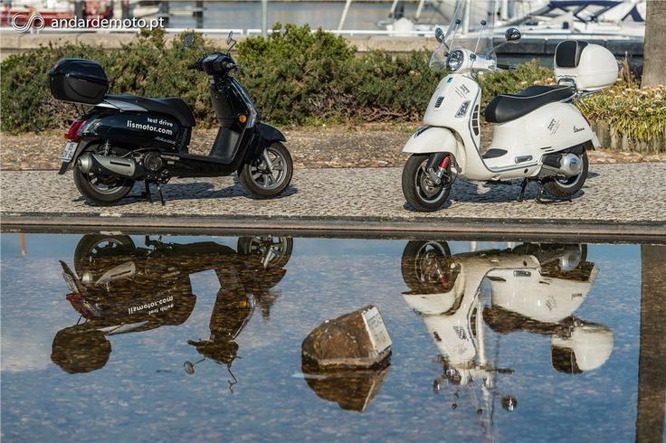 Kymco Like 125 versus Vespa GTS 125 Super - Conceitos Extremos - Test drives - Andar de Moto