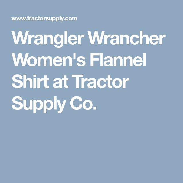 Wrangler Wrancher Women's Flannel Shirt at Tractor Supply Co.