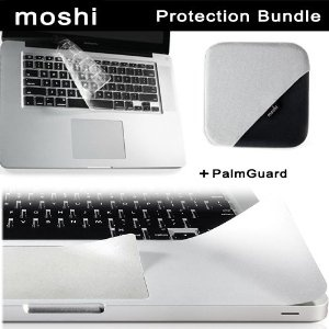 """Moshi MacBook Pro 17"""" Protection Bundle Kit includes Moshi ClearGuard Keyboard Protector for MacBook 17""""+ Moshi PalmGuard for MacBook 17"""" Unibody + Moshi TeraGlove Microfiber Screen Cleaner - Black (Electronics)  http://www.innoreviews.com/detail.php?p=B007C6W60M  B007C6W60M"""