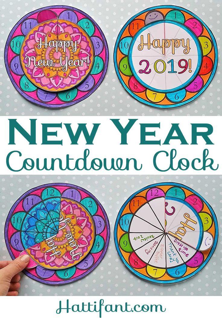 NEW YEAR Countdown Clock incl Mandala edition
